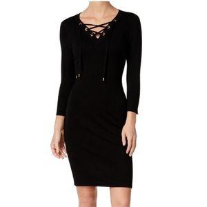 Calvin Klein knit black dress 1X